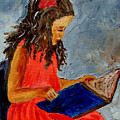 Girl With The Book by Inna Montano
