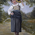 Girl With Water Jug by Sandra Nardone