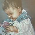 Girli Holding Rose by Joni McPherson