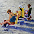 Girls Day At  The Beach by Fran Rittenhouse-McLean