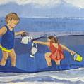 Girls On Beach by Betty Pieper