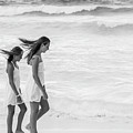 Girls On Beach by Lisa Lemmons-Powers