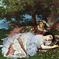 Girls On The Banks Of The Seine by Gustave Courbet