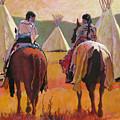 Girls Riding by Robert Bissett