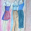 Girls Standing by M Valeriano