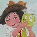 Girls With Lemonade by M Valeriano