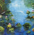 Giverny Lily Pond by Torrie Smiley