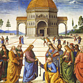 Giving Of The Keys To Saint Peter by Pietro Perugino