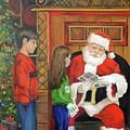 Giving The List To Santa by Carolyn Shireman