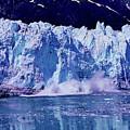Glacier - Calving - Reflection by D Hackett