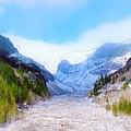 A Glacier In Mt. Rainier by Jane Powell