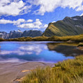 Glacier Lake On The Milford Track by Dominic Piperata