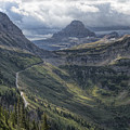 Glacier - Looking Back At Logan Pass by Jemmy Archer