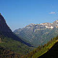 Glacier National Park Mt - View From Going To The Sun Road by Christine Till