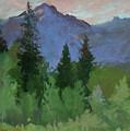 Glacier Nat'l Park - Plein Air -  Rising Wolf Ranch by Betty Jean Billups