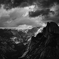Glacier Point Yosemite Landscape Black White by Kyle Hanson