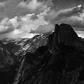 Glacier Point Yosemite Portrait Black White by Kyle Hanson