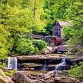 Glade Creek Grist Mill 3 - Paint by Steve Harrington