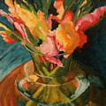Glads In Glass by Barbara Auito