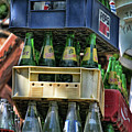 Glass Bottles Soft Drinks  by Chuck Kuhn
