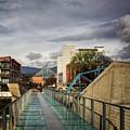 Glass Bridge To The Aquarium by Greg Mimbs