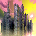 Glass City by Sandra Bauser Digital Art