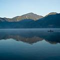 Glass Lake Atitlan Guatemala 1 by Douglas Barnett