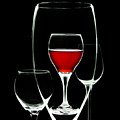 Glass Of Wine In Glass by Tom Mc Nemar
