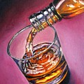 Glass Of Wine Original Oil Painting by Natalja Picugina