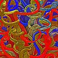 Glass Sculpture A-la Monet  by David Frederick