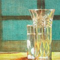 Glass Vase - Still Life by Usha Shantharam