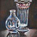 Glass Vases-still Life by Usha Shantharam
