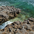 Glass Wave Blowing Rocks Preserve Jupiter Island Florida by Michelle Constantine