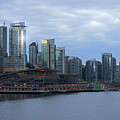 Gleaming Cityscape. Vancouver At Dawn  by Connie Fox