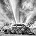 Gleeson Arizona Rusted Out Vw Beetle Black And White by Toby McGuire