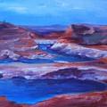 Glen Canyon Dam Arizona by Donna Pierce-Clark