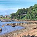 Glen Cove Rocky Beach by Bob Slitzan