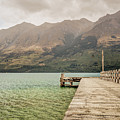 Glenorchy Pier On Lake Wakatipu by James Udall
