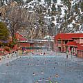 Glenwood Springs Hot Springs In Winter by Robert Meyers-Lussier
