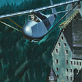 Glider Escape From Colditz Castle by Wilf Hardy
