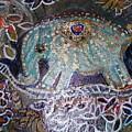 Glitter Girl Elephant Walking In My Dream  by Anne-Elizabeth Whiteway