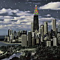 Glittering Chicago Christmas Tree by Elaine Plesser