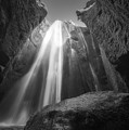 Gljufrabui Iceland Waterfall Bw by Michael Ver Sprill