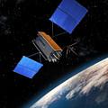 Global Positioning System Satellite In Orbit by Erik Simonsen