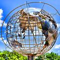 Globe At Columbus Circle by Jeelan Clark