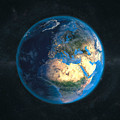Globe Daynight Europe by Marco Bagni