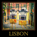 Gloria Funicular Lisbon Poster by Joan Carroll
