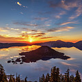 Glorious Crater Lake Sunrise by Pierre Leclerc Photography