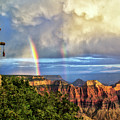 Glorious View From North Rim Lodge by Carolyn Derstine