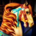 Glowing Carrousel Horse by Garry Gay